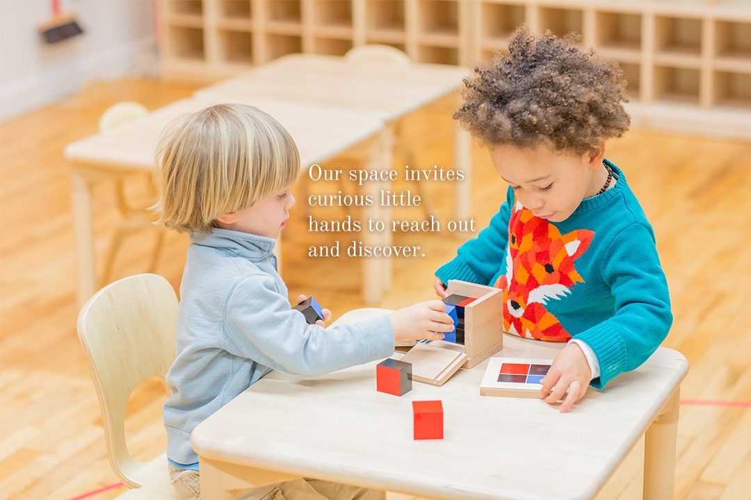 Our space invites curious little hands to reach out and discover